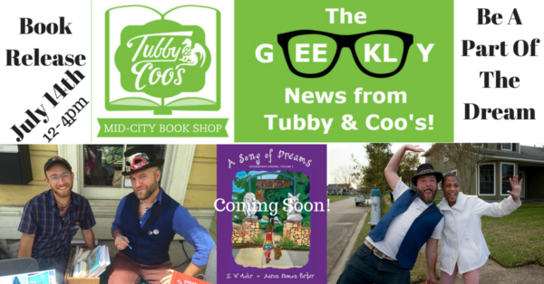 A SONG OF DREAMS BOOK RELEASE JULY 14TH! @ Tubby and Coo's Book Shop